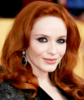 Christina Hendricks - 2011 SAG Awards - eye makeup
