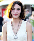 Alexa Chung - Coachella - Blue Nail Polish