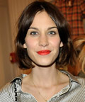 Alexa Chung - red lipstick
