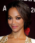 Zoe Saldana - smoky eyes - Miami