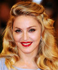 Madonna - red lipstick - Venice International Film Festival