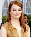 Emma Stone - The Help - France - bronze eye shadow