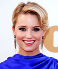 Dianna Agron - eyes - eye makeup - Primetime Emmy Awards