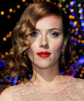 Scarlett Johansson - lips - red lips - Dolce & Gabbana Fashion Show - Milan Womenswear Fashion Week