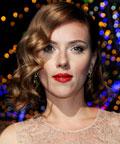 Scarlett Johansson - lips - red lips - Dolce & Gabbana Fashion Show - Milan Womenswear Fashion Week