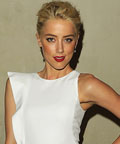 Amber Heard - nails - burgundy nails - manicure - Los Angeles - Giorgio Armani/Vanity Fair dinner