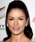 Catherine Zeta-Jones - rosy lips - mauve lips - lipstick - Sony Studios - California
