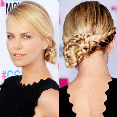charlize theron amazing wedding updos from every angle