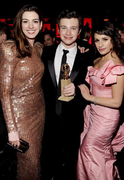 Chris wins a Golden Globe, 2011/01/16 011711-Anne-Chris-Lea-400