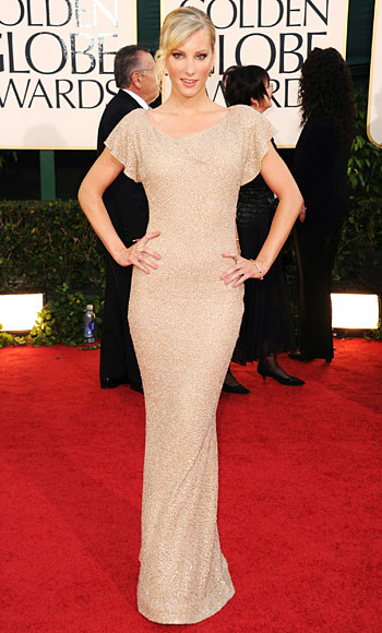 Heather Morris - Lorena Sarbu - Golden Globes 2011