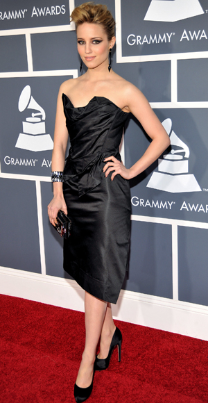 dianna agron red carpet dress. Dianna Agron - Red Carpet Arrivals - Grammy Awards 2011 - Celebrity - InStyle