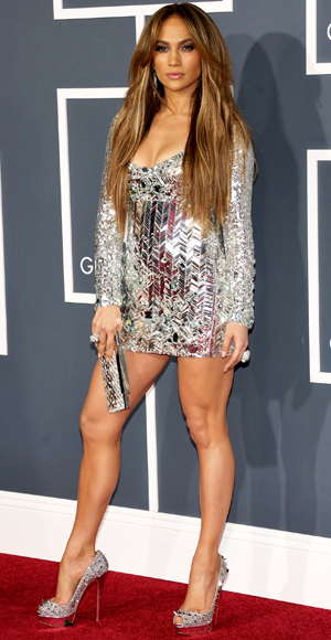 Jennifer Lopez - Emilio Pucci - Swarovski - Red Carpet Arrivals - Grammy Awards 2011