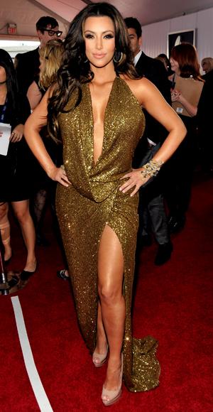 Kim Kardashian - Kaufmanfranco - Lorraine Schwartz - Grammy Awards 2011