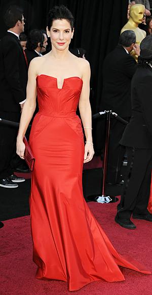 Sandra Bullock in Vera Wang
