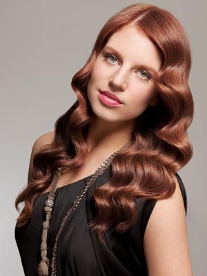 Auburn hair color on black