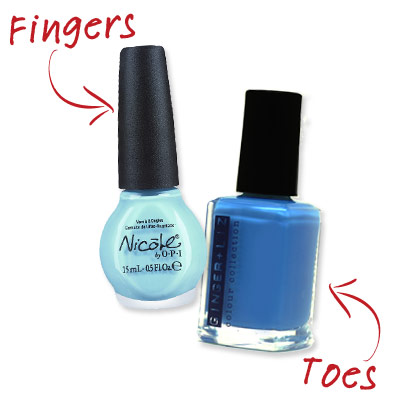 Lisa Logan - Shades of Blue - Cute Nail Polish Combos for Your Fingers and Toes
