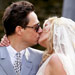 Kate Moss and Jamie Hince wedding kiss