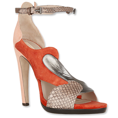 Reed Krakoff Snakeskin and Leather Sandals