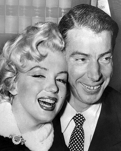 Joe DiMaggio and Marilyn Monroe 39s FrontPage Wedding Getty Images