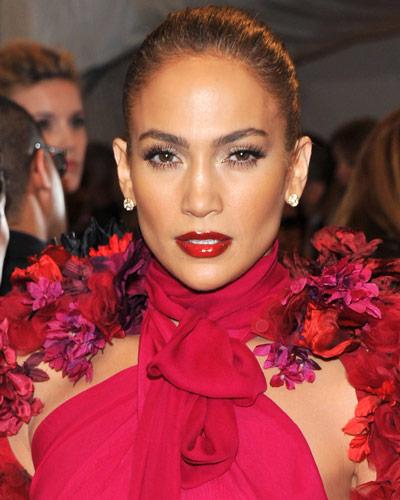 Jennifer Lopez - 25 Stars in Red Lipstick - Red Lips
