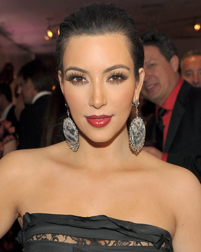 Kim Kardashian - 25 Stars in Red Lipstick - Red Lips