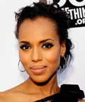 Kerry Washington - Daily Beauty Tip - Breezy Low Bun