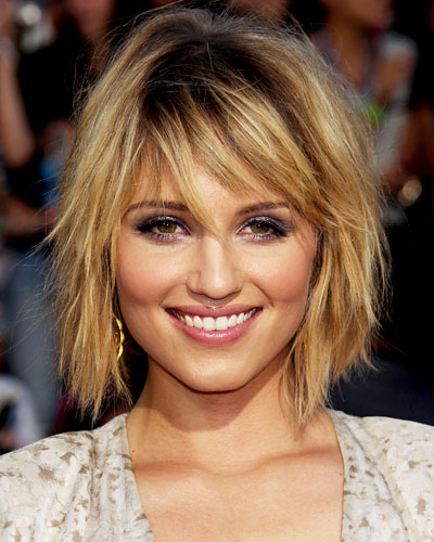 Dianna Agron Layered Hair