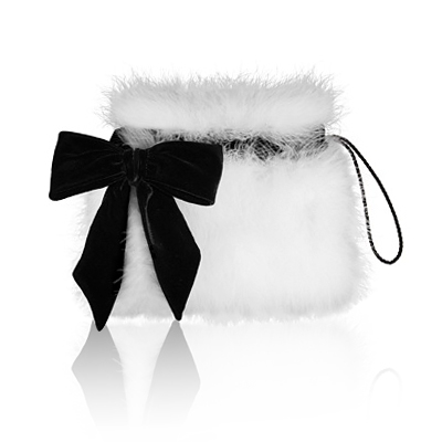 Azzaro marabou clutch
