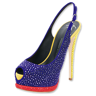 Giuseppe Zanotti Multi-Color Sling-Back Heels