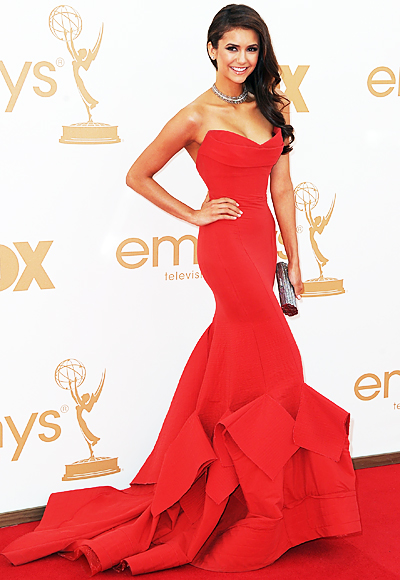 Nina Dobrev red Emmy dress 2011