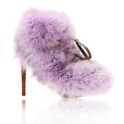 Moschino Cheap & Chic Fox Fur Booties