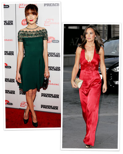 Michelle Monaghan and Pippa Middleton in jewel tones