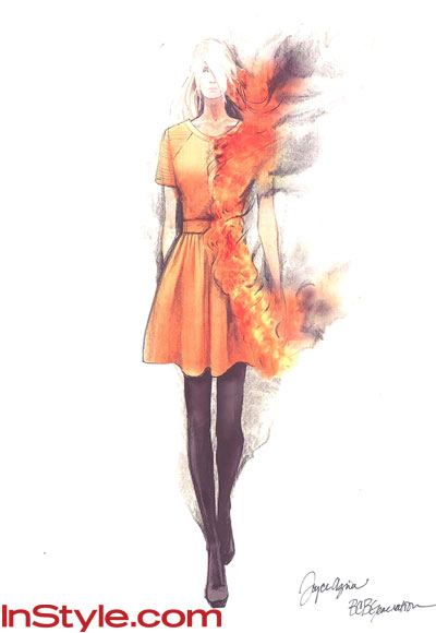 Star Fashion Games on Fashion Designers Sketch Katniss S Fire Dress    Hunger Games
