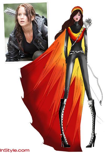 Fashion Designers Games on Fashion Designers Sketch Katniss S Fire Dress    Hunger Games