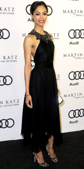 Zoe Saldana in Jason Wu