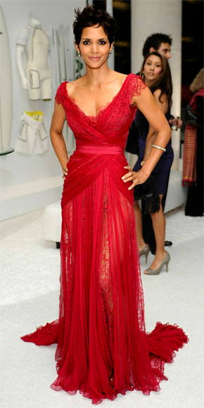Halle Berry in Elie Saab