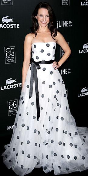 Kristin Davis in Oscar de la Renta