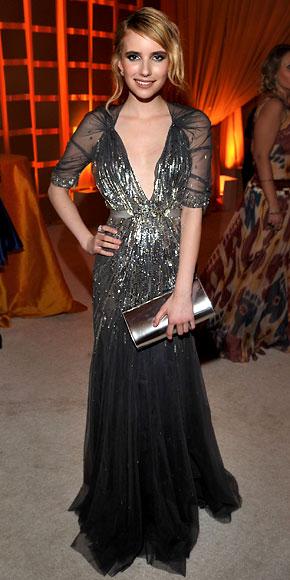 Emma Roberts in Jenny Packham