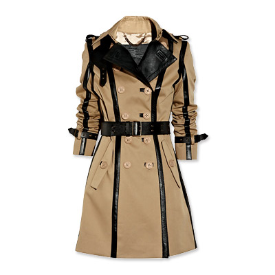 Burberry Prorsum Leather-Trimmed Trench