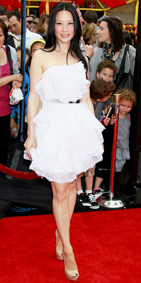 Lucy Liu in Jimmy Choo