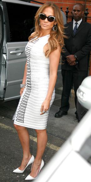 Jennifer Lopez in Hervé Léger by Max Azria