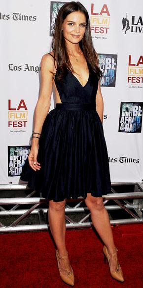 Katie Holmes wearing Lanvin