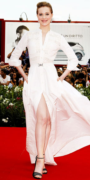 Evan Rachel Wood in Alessandra Rich