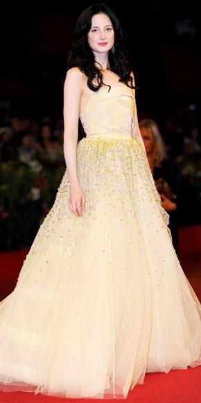 Andrea Riseborough in Christian Dior