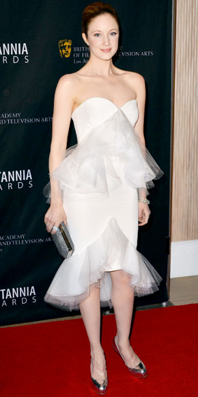 Andrea Riseborough in Marchesa