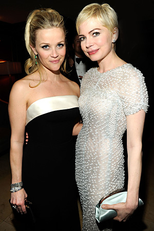 2011 Academy Awards - Oscars After-Parties - Reese Witherspoon and Michelle Williams
