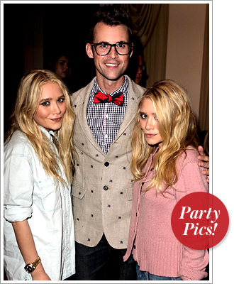 Mary-Kate Olsen, Brad Goreski and Ashley Olsen