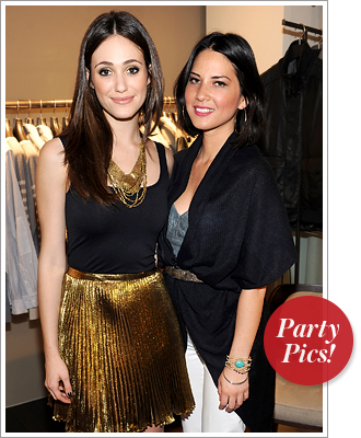Emmy Rossum and Olivia Munn