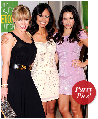 Hilary Duff, trainer Kimberly Snyder and Jenna Dewan-Tatum