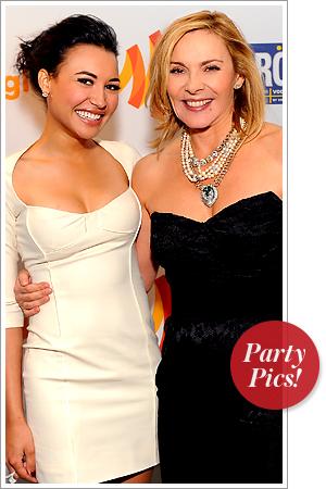 Naya Rivera and Kim Catrall